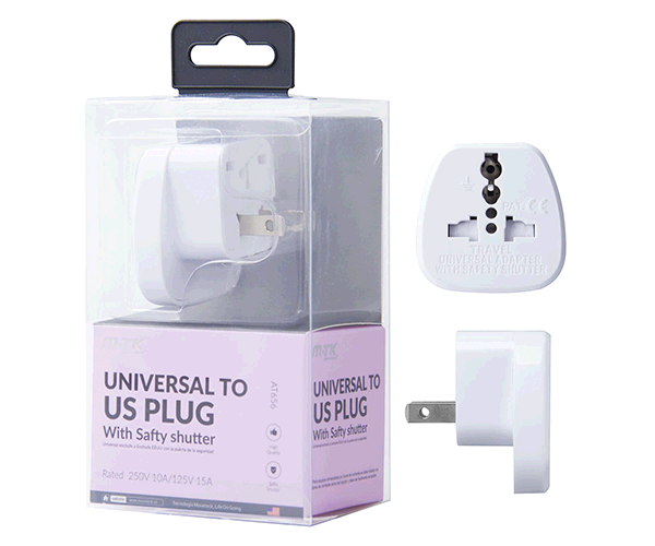 Adaptador enchufe internacional de viaje a USA AT656