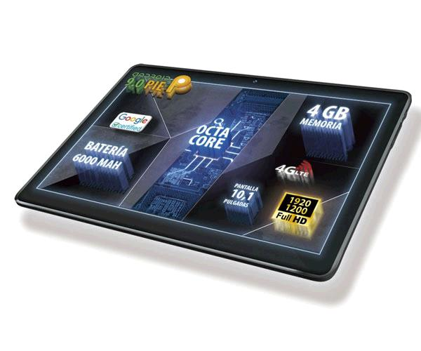 "Tablet Talius 10.1"" Fhd Zircon 1016 / 4G / Octa-Core A53 2.0Ghz / 4Gb / 64Gb / android 9"