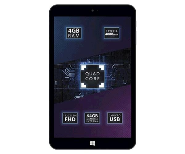 "Tablet Talius 8"" Zaphyr 8005w / Full HD / Atom Z8350 Quadcore 1.92Ghz / 4Gb / 64Gb / Windows 10 Home"
