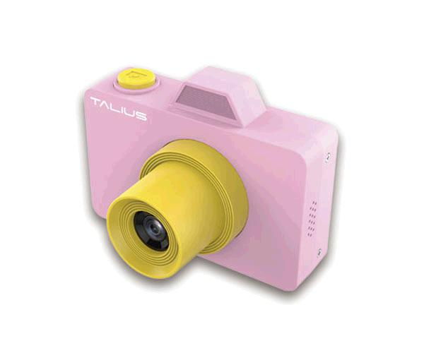 Camara Digital Talius Pico Kids Rosa / 32gb / Video 720p / 18mp / Camara frontal Selfie / Funda + bolsa transporte