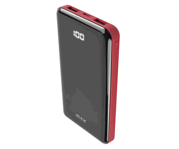Power bank Jamal 12000 mah Td2124 / 2xUSB / Microusb-Type-c / Rojo / Mtk