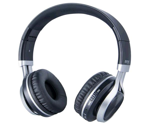 AURICULARES BLUETOOTH + MICROFONO K3608 NEGRO/PLATA MTK