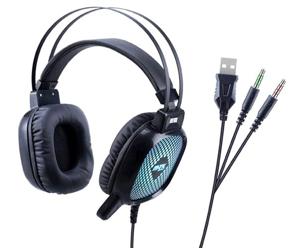 AURICULARES GAMING 7.1 LUZ LED / CT645 / PC / PS4 / XBOX ONE / SWITCH / NEGRO / MTK