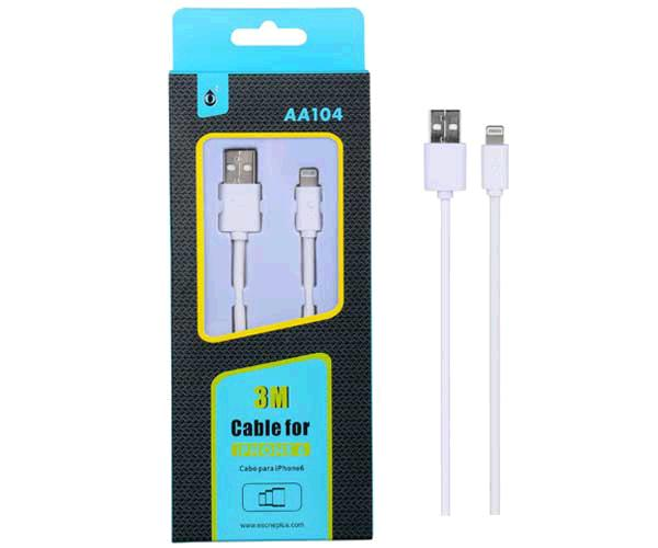 CABLE DATOS IPHONE 5 / 5S/ 6/ 7/ ALTA CALIDAD 3M AA104 ONE+