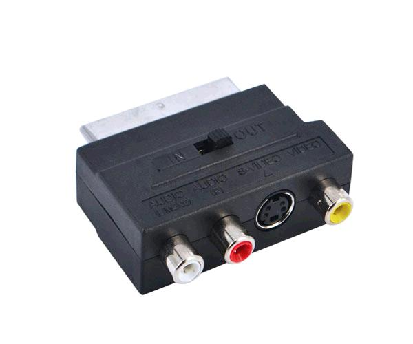 ADAPTADOR VIDEO EUROCONECTOR - SCART A RCA / S-VIDEO M/H