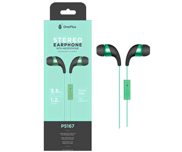 Auriculares + Micro Intrauditivos p5167 wings verde ONE+