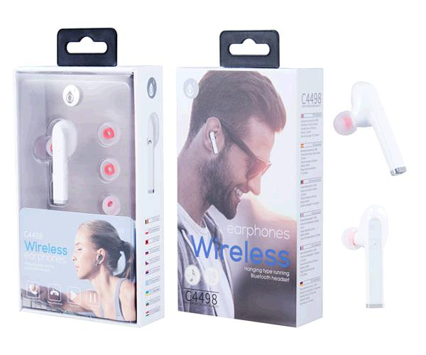 AURICULAR BLUETOOTH NIX C4498 / BLANCO / RELLAMADA / ONE+