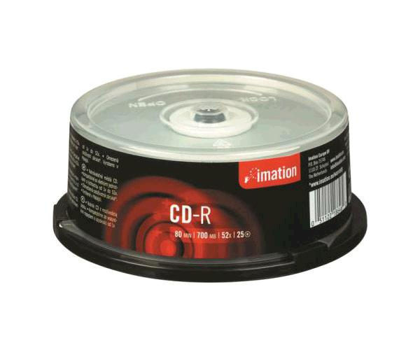 Cd-r Imation 700mb tarrina 25 uds