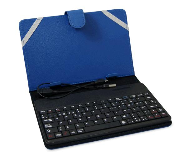 Tu precio justo funda universal tablet 6 7 pulgadas con teclado bluetooth azul - Funda tablet con teclado 7 ...