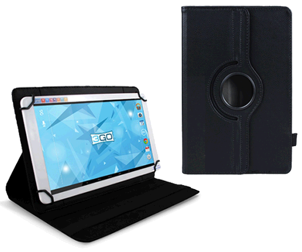 Funda tablet 10.1 pulgadas ajustable panoramica negra 3go