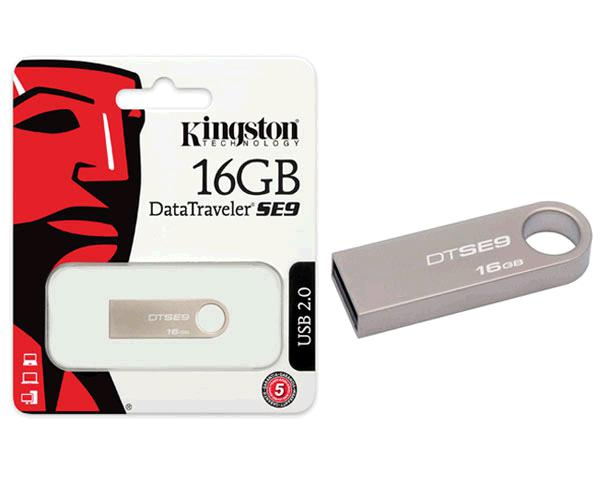 PENDRIVE KINGSTON DTSE9H 16GB USB 2.0 METALIZADO PLATA