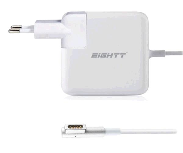 Cargador portatil Apple magsafe 1 60w 16.5v 3.65a pin magnetico / Eightt / Ea601