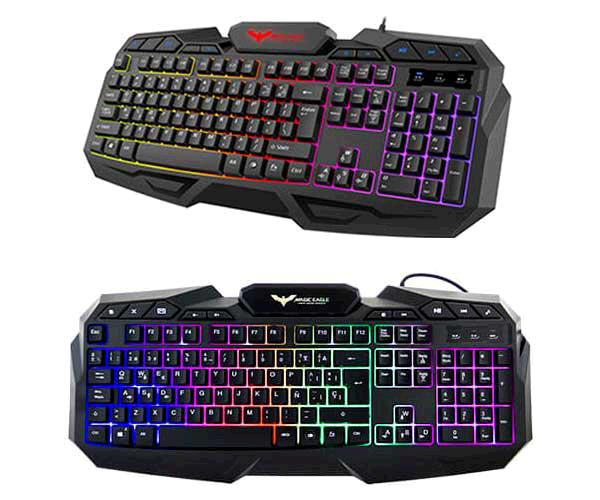 TECLADO GAMING USB HAVIT RETROILUMINADO HV-KB406L