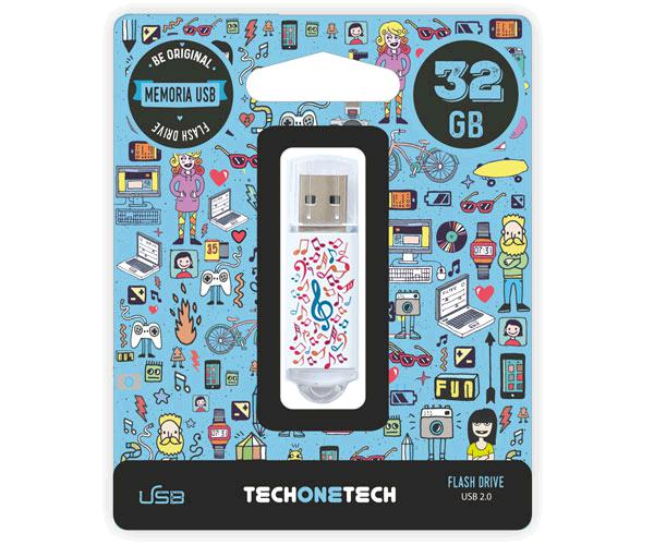 Pendrive animado USB 2.0 32Gb - music dream