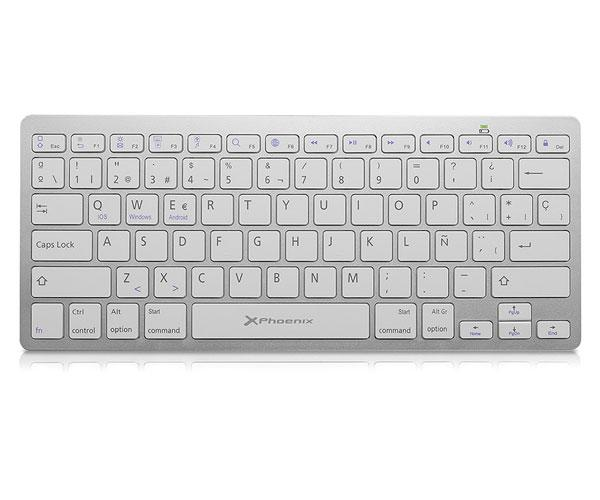 Teclado Slim Bluetooth phoenix btkeyboardw plata windows / android / Apple