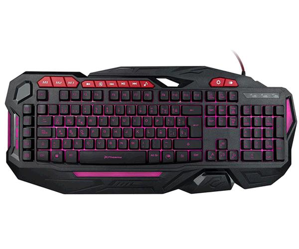 TECLADO GAMING MULTIMEDIA USB PHOENIX FACTOR KEY / 3 COLORES LED / PROGRAMABLE