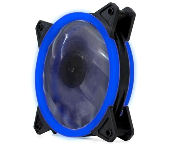 Ventilador gaming doble LED azul phoenix 12cm / 3 a 4 pines / silencioso / 1200 rpm