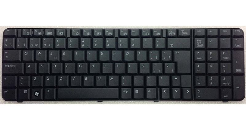 TECLADO HP 6820 BLACK