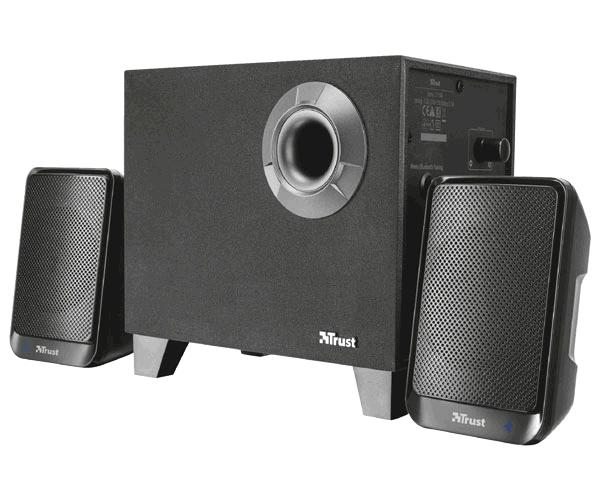 Altavoces Trust Evon 2.1 / Bluetooth / subwoofer madera / 30w rms