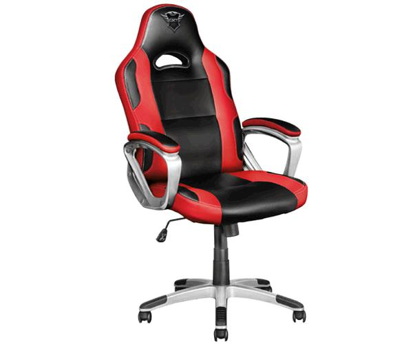 Silla trust Gaming Gxt 705 Ryon / Giratoria 360 / Asiento reclinable con bloqueo / 150kg / Negra-Roja