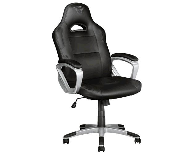 Silla trust Gaming Gxt 705 Ryon / Giratoria 360 / Asiento reclinable con bloqueo / 150kg / Negra-Gris