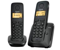 Telefono inalámbrico dect gigaset a120 pack duo negro