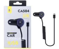 Cargador mechero iPhone 5/6/7 + USB ca504 negro