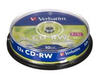 Cd-rw Verbatim Regrabable 700mb tarrina 10 uds / 12x / Superficie scrath