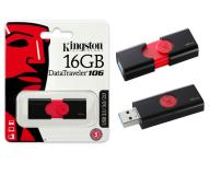 PENDRIVE KINGSTON DT106 16GB USB 3.0 / 3.1 GEN 1 -  NEGRO / ROJO