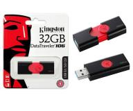 PENDRIVE KINGSTON DT106 32GB USB 3.0 / 3.1 GEN 1 -  NEGRO / ROJO